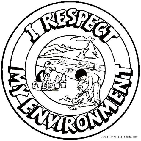 coloring pictures world environment day i respect my environment morale lesson color page