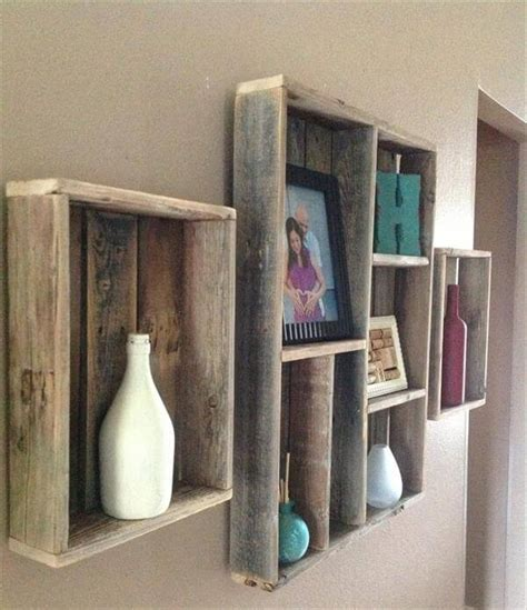 wall shelving ideas pallet wall shelves ideas 101 pallets