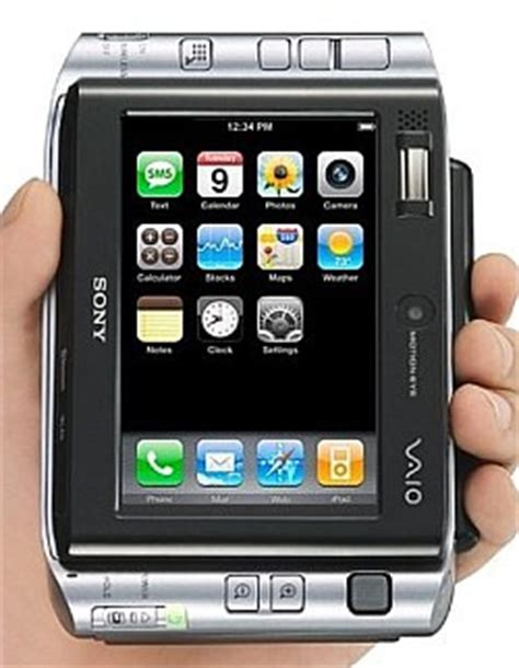 iphone interface on sony vaio ux micro pc pocketables
