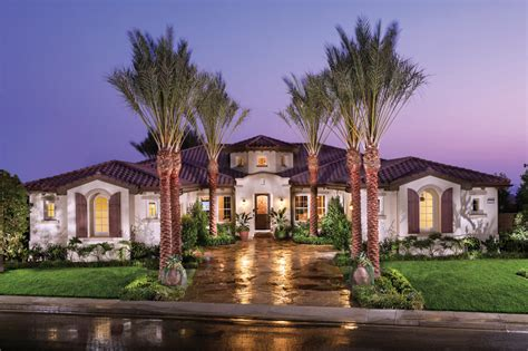 Mediterranean Style Mansions Masters At Moorpark Country Club Luxury New Homes In