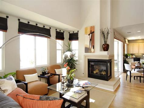 Living Room With Fireplace And Kitchen Photos Hgtv