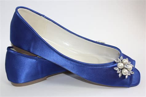 blue flat wedding shoes wedding flats wedding shoe blue wedding shoe blue ballet