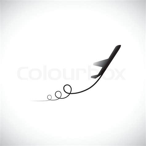wandlen zum ausziehen graphic flugzeug symbol auszuziehen zeigt den weg und