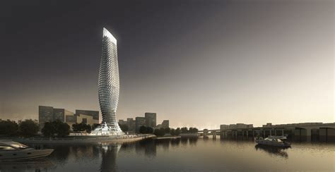 Architecture Designs gallery of rmjm designs fish inspired tower clad with