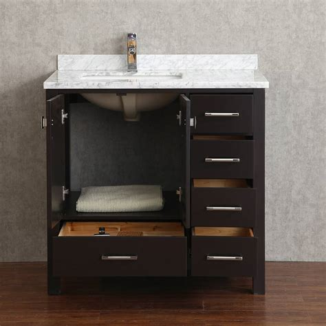 Buy Vincent 36 Inch Solid Wood Single Bathroom Vanity In Wooden Bathroom Vanity