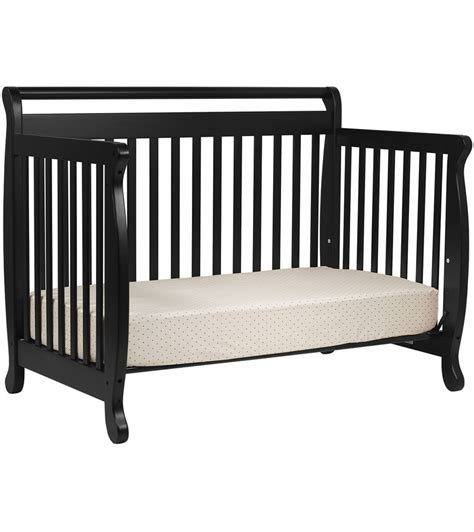 Davinci Emily 4 In 1 Convertible Crib In Ebony Black Black 4 In 1 Convertible Crib