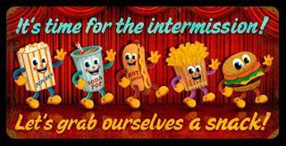 intermission snacks pts021  vintage tin sign | cool stuff