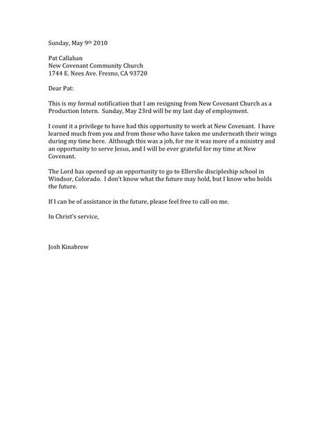 My Resignation Letter by Resignation Letter Free Printable Documents
