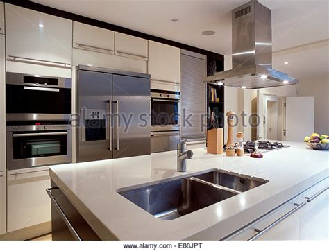 interiors modern kitchens refrigerators stock photos