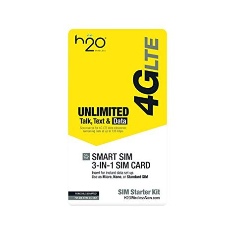 h20 mobile h2o 3 in 1 sim card electronics communications telephony