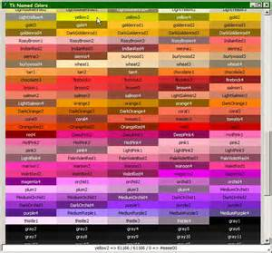 crayola color list crayola color chart with names color names running all