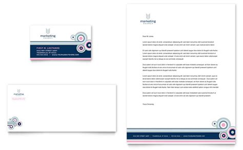 card marketing services templates marketing agency business card letterhead template design