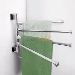 Bathroom Towel Holder Towel Holder 4 Swivel Bars Stainless Steel Bath Rack Rail