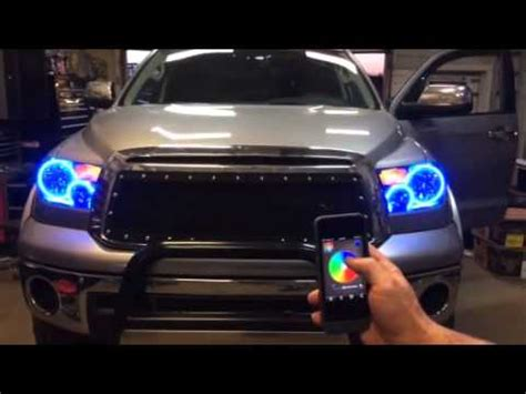 oracle halo headlights and oracle smart phone app by