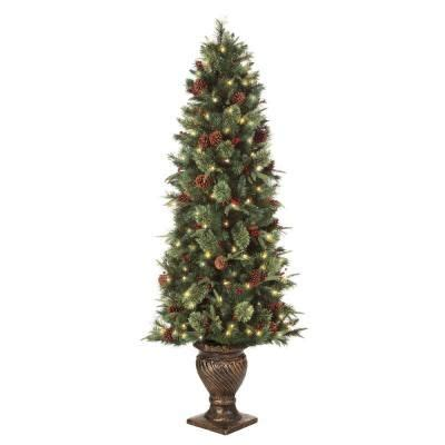 martha stewart faux christmas tree martha stewart living 6 5 ft pre lit potted artificial tree with clear lights ty78