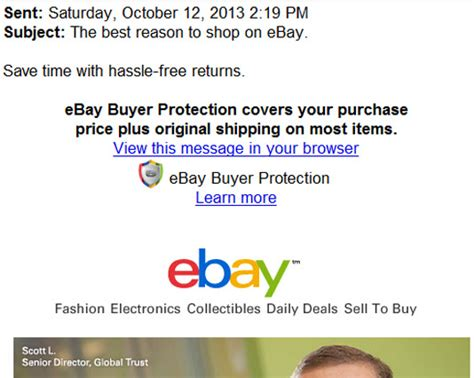 ebay buyer protection new ebay email promises buyers hassle free returns
