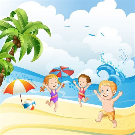 Imagenes Niños Jugando En El Mar | vinilo para pared ni 241 os jugando en la playa costa