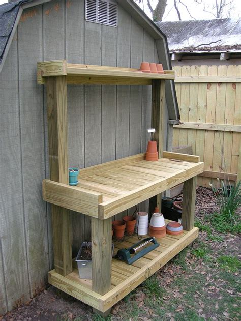 outdoor potting bench plans 25 best ideas about pallet potting bench on pinterest