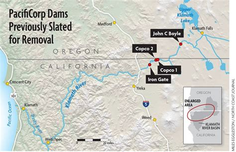 map of oregon dams feds announce new klamath accord to remove dams by 2020