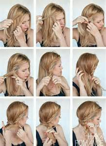 Easy hairstyle for long hair step by step photo nail art styling