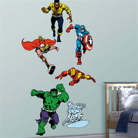 marvel heroes wall stickers classic superheroes fathead wall decal