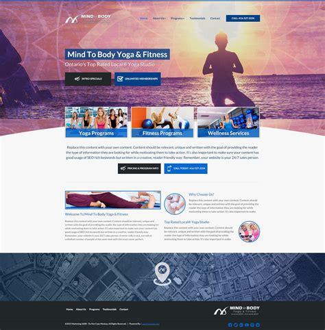 mockup yoga design 10 best yoga studio website design templates for 2017