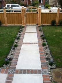 brick and concrete walkway design ideas for your concrete projects pinterest walkways