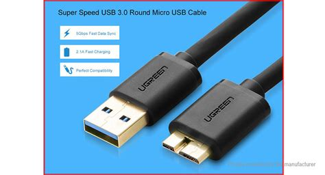 Ugreen Micro Usb To Usb Cable 50 Cm For Charging And Data Cable buy ugreen us130 micro usb usb 3 0 data sync charging cable 100cm black 100cm at fasttech