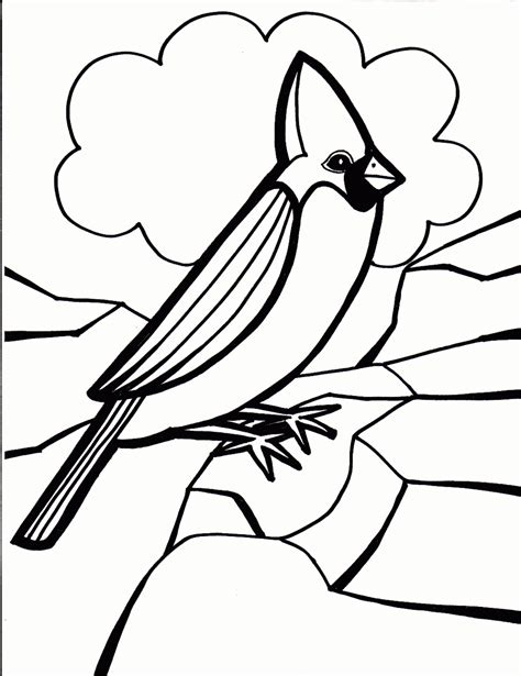 coloring page cardinal bird coloring pages coloring lab