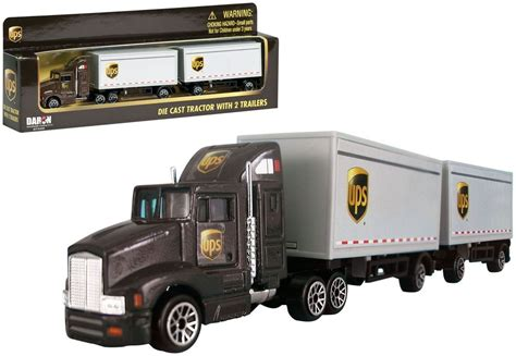 Jual Diecast Truck Trailer by Daron 1 87 Ho Scale Diecast Ups Freight 12 Wheels Truck