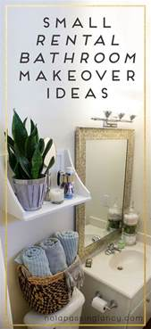 decorating a rental home small rental bathroom makeover ideas not a passing fancy