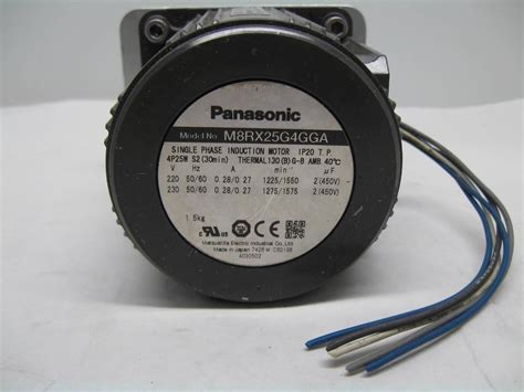 panasonic induction motor panasonic m8rx25g4gga reversible induction motor 25w 4 pole 220 230v ac ebay