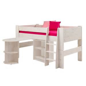 kinderhochbetten mit schreibtisch kinderhochbett mengiz in wei 223 mit schreibtisch wohnen de