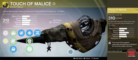 Touch Of destiny touch of malice scout rifle guide