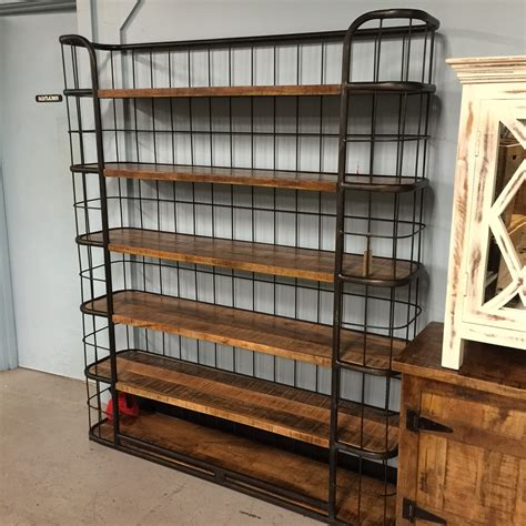 iron and wood bookcase nadeau nashville