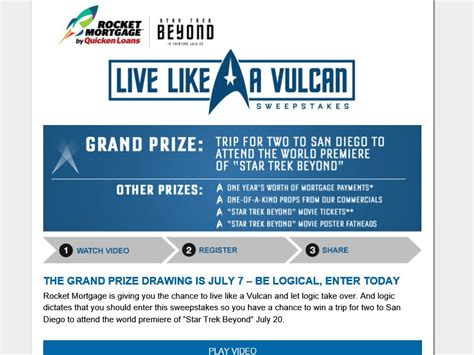 Live Like The Real Sweepstakes by The Quicken Loans Live Like A Vulcan Sweepstakes
