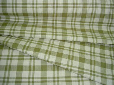 plaid home decor fabric additional views closeout tan olive white plaid home decor