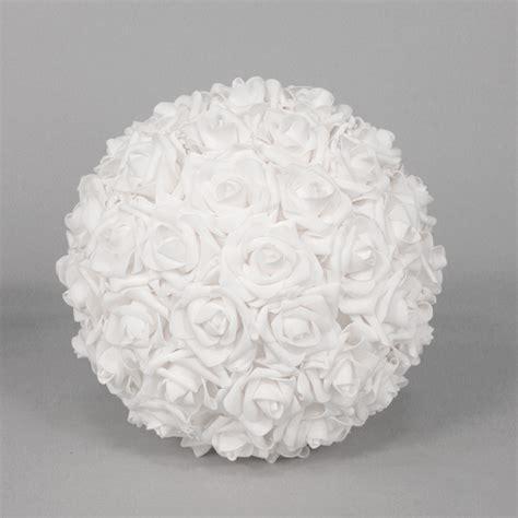 white decorative foam flower balls, white foam flower