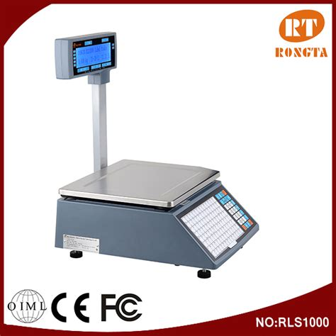 Timbangan Manual 15kg 15kg 30kg electronic label barcode printing weighing scale