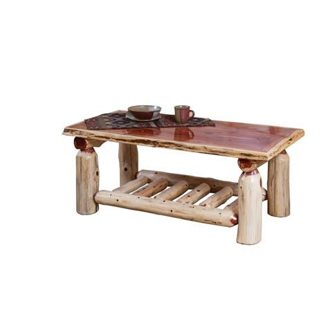 Rustic Log Coffee Table Rustic Cedar Log Coffee Table Furniture Barn Usa