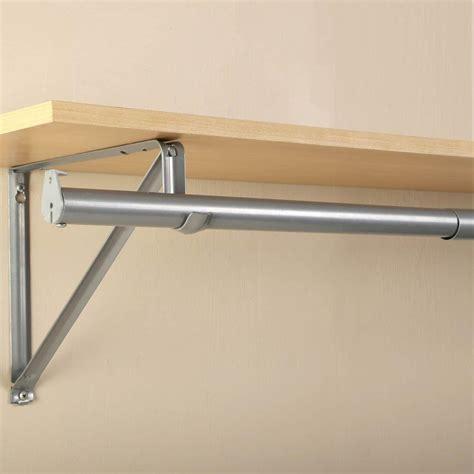 Adjustable Closet Pole by Closet Pro 72 In 120 In Platinum Adjustable Closet Rod