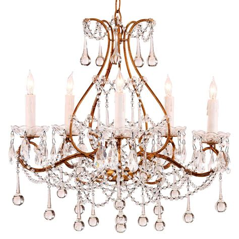 Swag Chandelier Prasto Faceted Teardrop Swag Style 5 Light Chandelier Kathy Kuo Home