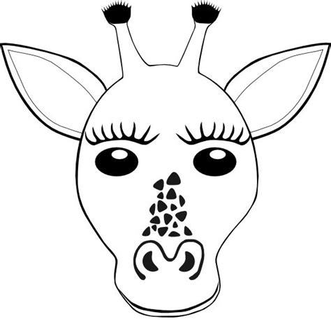 giraffe face coloring pages 17 best images about kid stuff on pinterest digital