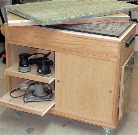 delta downdraft sanding table sanding assembly cart by wuddoc lumberjocks com