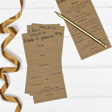 Wedding Advice Cards by Wedding Advice Cards Pack Of 25 By Russet And Gray