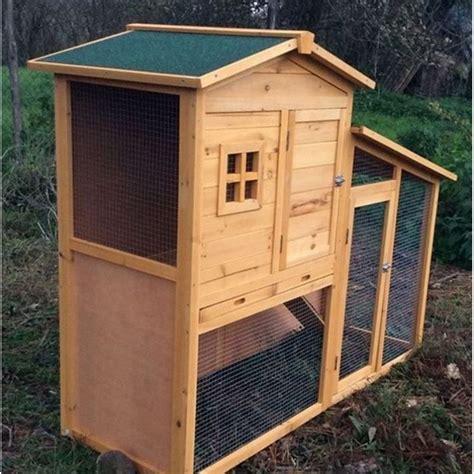 gabbia per conigli da esterno conigliera da esterno in legno con recinto e casetta per