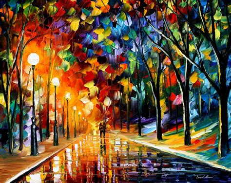 all artist romantic eveng palette knife oil painting on canvas by