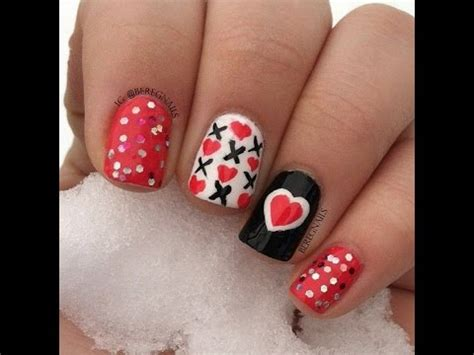 imagenes de uñas decoradas con rayas u 241 as decoradas con corazones youtube