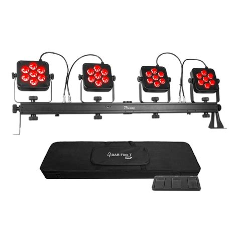 all in one dj lighting system chauvet dj 4bar flex t usb lighting portable all in one