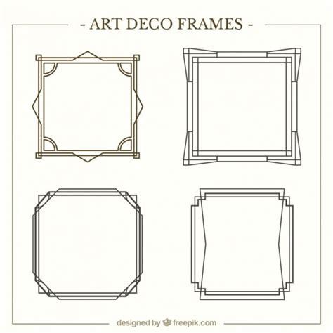cornici deco frames pack in deco style vector premium